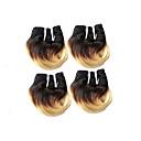 cheap Hair Braids-4 Bundles Brazilian Hair Body Wave Human Hair Ombre Hair Weaves / Hair Bulk Ombre Human Hair Weaves Human Hair Extensions