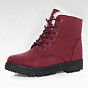 hesapli Kadın Botları-Kadın's Ayakkabı Süet Kış Kar Botları Çizmeler Yürüyüş Düz Taban Dış mekan için Kırmzı / Haki / Navy Mavi