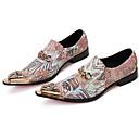 رخيصةأون أحذية أوكسفورد للرجال-للرجال أحذية رسمية Leather نابا خريف / شتاء المتسكعون وزلة الإضافات المشي ذهبي / الحفلات و المساء