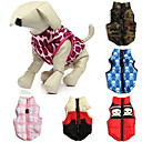 baratos Roupas para Cães-Gato Cachorro Casacos Colete Roupas para Cães camuflagem Caveiras Vermelho Azul Rosa claro Cor camuflagem Vermelho/Branco Algodão