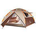 رخيصةأون مفارش و خيم و كانوبي-4 شخص أوتوماتيكي الخيمة في الهواء الطلق مكتشف الأمطار طبقات مزدوجة خيمة التخييم 2000-3000 mm إلى التخييم والتنزه غيرها من المواد