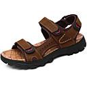 cheap Men's Sandals-Men's Nappa Leather Summer / Fall Comfort Sandals Upstream Shoes Dark Brown