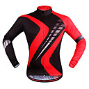 cheap Cycling Pants, Shorts, Tights-WOSAWE Long Sleeve Cycling Jersey - Red black Bike Jersey, Quick Dry Polyester