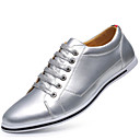 cheap LED Globe Bulbs-Men's Novelty Shoes Microfiber Spring / Fall Oxfords Gold / Silver
