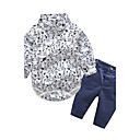 cheap Baby Boys' One-Piece-Baby Boys' Animal Print Going out / Casual / Daily Print / Animal Long Sleeve Cotton Clothing Set
