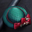 cheap Pins and Brooches-Tulle / Chiffon / Fabric Fascinators with 1 Birthday / Party / Evening Headpiece