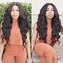 cheap Human Hair Wigs-Human Hair Glueless Lace Front Lace Front Wig Body Wave Wig 130% 150% Hair Density Natural Hairline African American Wig 100% Hand Tied Women's 10 inch 12 inch 14 inch Human Hair Lace Wig