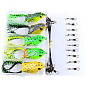 cheap Fishing Lures & Flies-25pcs pcs Frog Carbon Steel Sea Fishing Bait Casting Ice Fishing Spinning Jigging Fishing Freshwater Fishing Other Trolling & Boat