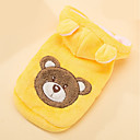 cheap Audio & Video Cables-Dog Costume Dog Clothes Bear Yellow Plush Fabric Down Costume For Pets Men's Women's Cosplay