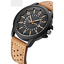 cheap Models & Model Kits-Men's Sport Watch Military Watch Wrist Watch Quartz Water Resistant / Water Proof Calendar / date / day Creative Leather Band Analog Charm Luxury Vintage Black / Orange / Brown - Orange Coffee Brown