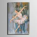 baratos Pinturas a Óleo-Pintura a Óleo Pintados à mão - Pessoas Abstracto Tela de pintura