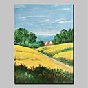 tanie Obrazy: motyw ludzi-Hang-Malowane obraz olejny Ręcznie malowane - Krajobraz Streszczenie / Nowoczesny Brezentowy / Walcowane płótno