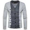 cheap Eyelash Implements-Men's Weekend Wool Slim Cardigan - Color Block V Neck