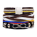 cheap Men's Bracelets-Men's Women's Wrap Bracelet Leather Bracelet - Leather Twist Circle Personalized, Fashion Bracelet Black For Daily Casual Stage