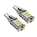 billige Baklys til bil-2pcs T15 Bil Elpærer 9W SMD 4014 900lm LED Light Bulbs Baklys
