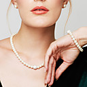 cheap Necklaces-Women's Pearl Jewelry Set / Chain Bracelet / Strands Necklace - Pearl, Imitation Diamond Ladies, Fashion, Elegant, Bridal White Necklace Jewelry For Wedding, Party, Daily, Casual, Masquerade
