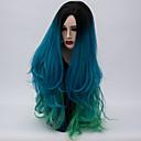 billige Kostymeparykk-Syntetiske parykker Syntetisk hår Parykk Lang Lokkløs Grønn