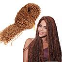 preiswerte Haarzöpfe-Geflochtenes Haar Afro / Gehäkelt / Curly Webart Pre-Schleife Crochet Borten Synthetische Haare 1pc / pack Haar Borten 100% kanekalon haare
