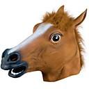 baratos Acessórios Cosplay Anime-Máscaras de Dia das Bruxas Máscara de Animal Cavalo Terror Borracha Cola Adulto Unisexo Para Meninos Para Meninas Brinquedos Dom 1 pcs