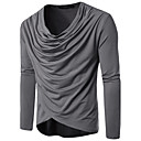 hesapli Erkek Saatleri-Erkek Pamuklu V Yaka İnce - Tişört Solid