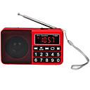 olcso Rádió-Y-928 FM / AM Hordozható rádió MP3 lejátszó TF kártya Világvevõ Fekete / Piros / Kék