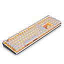 preiswerte Tastaturen-AJAZZ AK33PUNK Mit Kabel Einfarbige Hintergrundbeleuchtung Schwarze Schalter 108 Mechanische Tastatur Hinterleuchtet