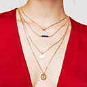 cheap Necklaces-Women's Layered Layered Necklace - Gold Plated Heart Fashion, Multi Layer Gold Necklace For Thank You, Gift, Daily