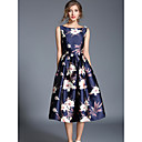cheap Party Headpieces-Women's Holiday / Going out Street chic A Line / Swing Dress - Floral