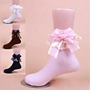 baratos Acessórios de Sapatos-Mulheres Meias Standard Sólido Antibacteriano Estilo Romântico Tecido No tubo EU36-EU42