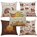 cheap Pillow Covers-5 pcs Linen / Natural / Organic / Cotton / Linen Pillow Case / Pillow Cover, Textured Beach Style / Euro / Bolster