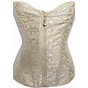 abordables Pelucas-cremallera de las mujeres overbust corset-solid, print