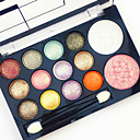 cheap Eyeshadows-Eyeshadow Palette Blush Makeup Brushes Ammonia Free Formaldehyde Free Makeup Men Men and Women Lady Dry Matte Shimmer Waterproof Long Lasting Breathability 12 Colors Cosmetic Grooming Supplies