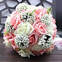 זול מזכרות שימושיות-פרחים מלאכותיים 1 ענף סגנון ארופאי צמחים פרחים לשולחן