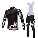 cheap Cycling Jersey & Shorts / Pants Sets-Long Sleeve Cycling Jersey with Bib Tights Bike Clothing Suit, Thermal / Warm Polyester, Fleece, Silicon / Lycra