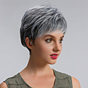 cheap Synthetic Capless Wigs-Synthetic Wig Straight Synthetic Hair Gray Wig Women's Short Capless