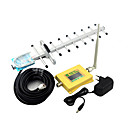 cheap Prints-Intelligent Display Mobile Phone CDMA 850mhz Signal Booster 800mhz Signal Repeater with Omni Antenna / Yagi Antenna Yellow