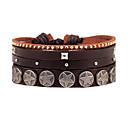 cheap Men's Bracelets-Men's Layered Wrap Bracelet Leather Bracelet - Leather Personalized, Multi Layer Bracelet Brown For Daily Casual Stage