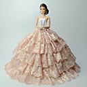 preiswerte Kostüme für Erwachsene-Kleider Kleider Für Barbie-Puppe Satin / Tüll Polyester / Baumwolle Kleid Für Mädchen Puppe Spielzeug