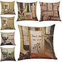 cheap Writing Tools-7 pcs Linen Pillow Cover / Pillow Case, Textured / Wildlife / Quotes & Sayings Modern / Contemporary / Office / Business / Traditional / Classic