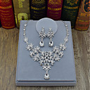 cheap Historical & Vintage Costumes-Women's Jewelry Set Drop, Flower Ladies, Fashion Include Drop Earrings Necklace Silver For Wedding Party Ceremony Stage