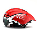 preiswerte Radhelme-Erwachsene Fahrradhelm Aero Helm 6 Öffnungen ASTM Stoßfest, Leichtes Gewicht EPS, PC Sport Straßenradfahren / Freizeit-Radfahren / Radsport / Fahhrad - Hellblau / Schwarz / gelb / Red / White (weißer