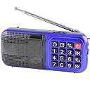 olcso Rádió-L-83 FM Hordozható rádió Ébresztőóra / MP3 lejátszó / Ébresztő óra TF kártya Világvevõ Piros / Kék