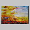 baratos Pinturas Abstratas-Pintura a Óleo Pintados à mão - Abstrato Abstracto / Modern Tela de pintura / Lona Laminada