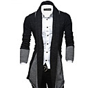 cheap Men's Bracelets-Men's Weekend Street chic Long Sleeve Slim Long Cardigan - Color Block Shirt Collar