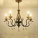baratos Lustres-5-luz Lustres Luz Ambiente Metal Cristal, Estilo Vela 110-120V / 220-240V Lâmpada Não Incluída / E12 / E14