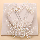cheap Jewelry Sets-Imitation Pearl Hair Combs / Headwear with Floral 1pc Wedding / Special Occasion / Anniversary Headpiece