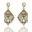 cheap Earrings-Women's Chandelier Drop Earrings - Drop Statement, Fashion Gold / Green For Wedding Party