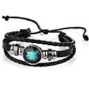 cheap Men's Rings-Men's Women's Leather Bracelet - Leather Vintage Bracelet Black For Gift
