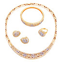 cheap Jewelry Sets-Women's Jewelry Set - Gold Plated Classic, Simple Style, Fashion Include Necklace Gold For Wedding / Party / Engagement