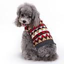 ieftine Îmbrăcăminte Câini-Pisici / Câine Haine / Pulovere / Crăciun Îmbrăcăminte Câini Tartan / Carouri Gri Spandex / Amestec de Bumbac / In Costume Pentru animale